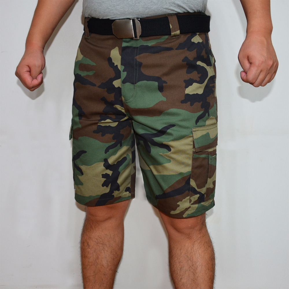 Men Cargo Shorts Camo Camouflage Short Summer Hot Sale Military Tactical Men Short Plus Size Bermuda Brand Clothing ID807-C