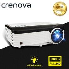 CRENOVA Новые 1920*1080 P проектор для android-устройств для 4 k видеопроектор с ОС Android 7,1 Wifi Bluetooth Full HD мультимедийный проектор