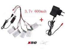 SYMA X5C X5A x5SC X5SW RC Quadcopter  upgraded battery 3.7V/600mAh Li-Po battery with USB/Wall charger