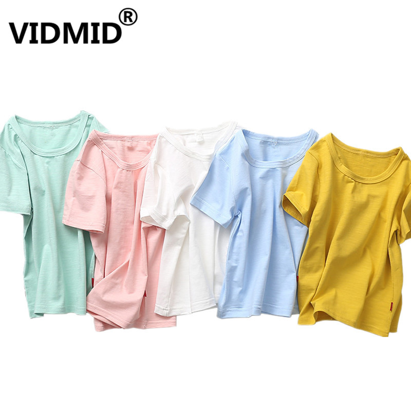VIDMID T-Shirt Tees Cotton-Top Baby-Boys Kids for Summer Infant Girls 2001/26 3-10Y