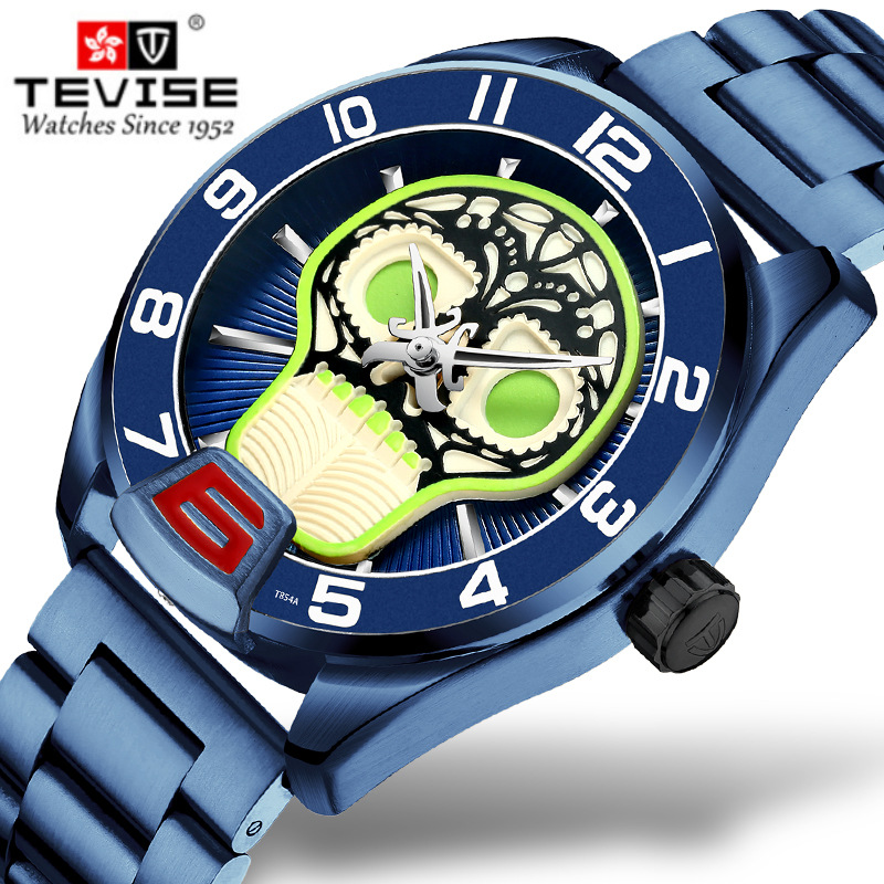 2019 Relogio Tevise Automatico masculino Men Watch Winding Mechanical Watches Pirate Skull Gift Business Wristwatches Male Clock2019 Relogio Tevise Automatico masculino Men Watch Winding Mechanical Watches Pirate Skull Gift Business Wristwatches Male Clock