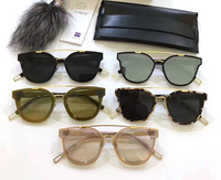 Gentle Luxury Brand Designer V Korea New Tonic Sunglasses Vintage Men Sunglasses Women Mirror Lens UV400