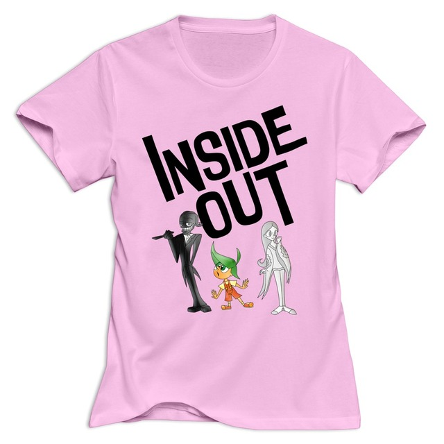 casual Inside Out woman t shirt Design Own o neck shirts women-in T ... 53ddb5d69