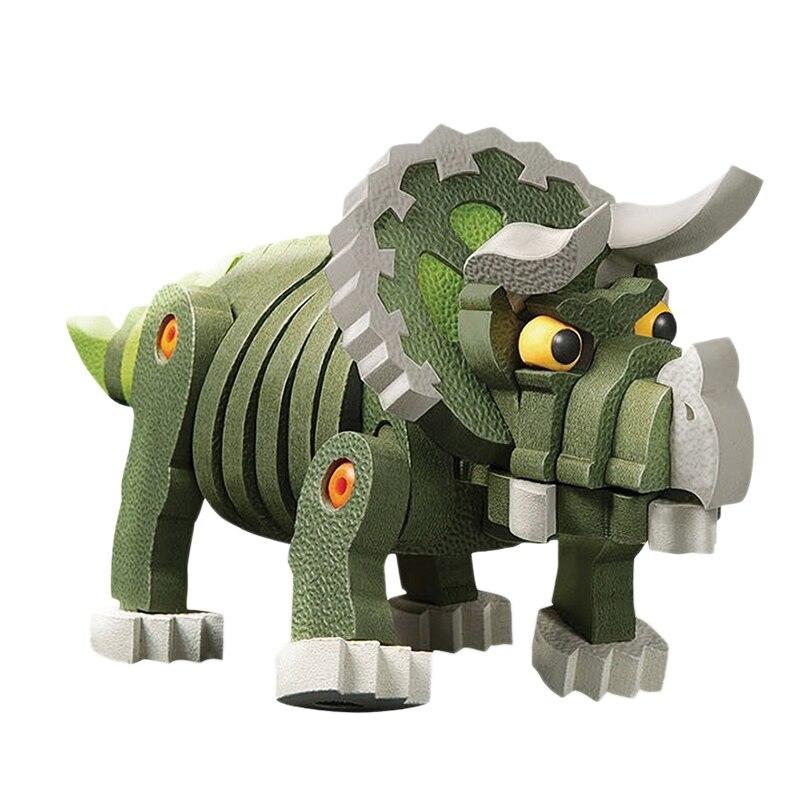 Children'S Foam Building Blocks Toys Early Childhood Educational Sponge Software 63Pcs Spelling Inserted Three Corners Dragon