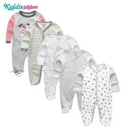 3/4/5 шт./компл. супер мягкие хлопковые носки унисекс для детей комбинезоны; Одежда для новорожденных с длинными рукавами для мальчиков и дево...