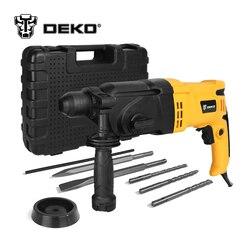 DEKO GJ180 220 V 26mm 4 Funções AC Elétrica Martelo com BMC e 5 pcs Acessórios Furadeira de Impacto furadeira Elétrica Broca