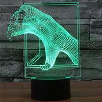 2016 new 3D LED stereo vision acrylic lamp Longzhua light touch desktop lamp