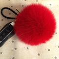 10cm Real Fox Fur Ball Keychain on The Keys Fluffy Real Fur Pompom Car  for Couples Fur Ball Key Chains  Fur cap beanie
