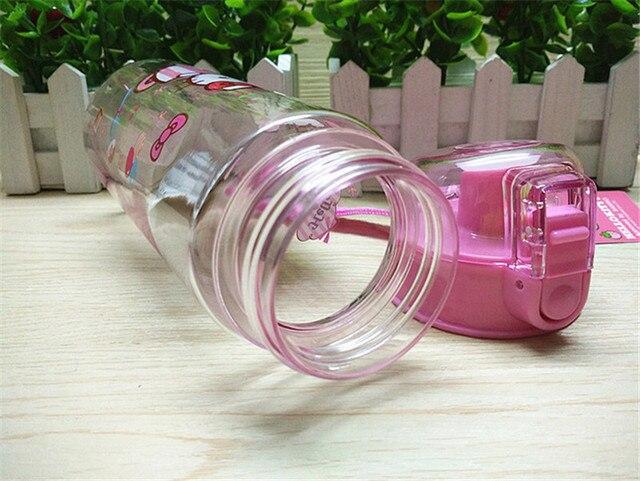1pc 550ml dibujos animados Spiderman botellas de agua vaso de vacío niños tazas respetuoso con el medio ambiente PP botella de plástico para niños chica