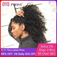 Синтетические волосы на кружеве натуральные волосы парики для женский, черный предварительно сорвал 250 плотность вьющиеся натуральные вол