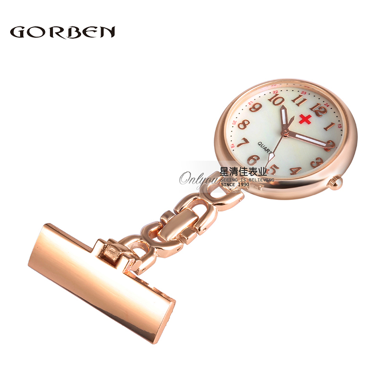 New Nurse Stainless Steel Infermiere Mjeku Brook Clip Quartz Fob Pendant Pocket Patch Watch 3 Colors Rezistent ndaj ujit