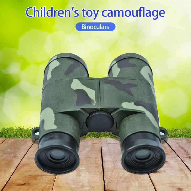 6X35 الأطفال الاطفال تليسكوب مزود بمنظار ثنائي العسكرية ألعاب لعب التمويه تلسكوب التكبير لعبة 6X الزجاج عدسة تلسكوب هدايا