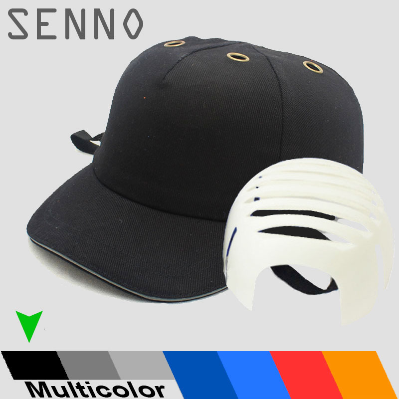 Anti-Impac Bump Cap Work Safety Helmet ABS Inner shell Baseball Hat Style Protective Hard Hat For Head Protection Top 6 Holes