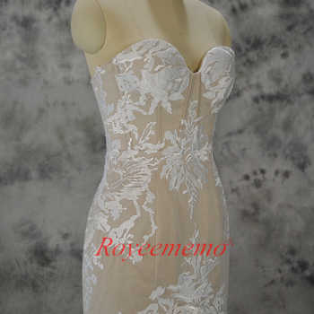 2019 hot sale special lace mermaid Wedding Dress nude satin Bridal gown custom made wedding gown factory directly