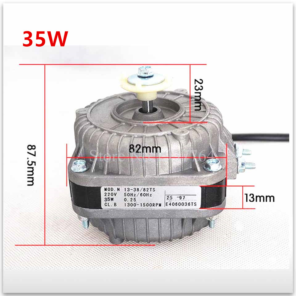 100% new for good working High-quality for 35W 220V-240V Refrigerator motor freezer motor + Plastic fan blade