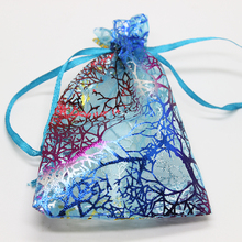 wholesale 100pcs/lot Organza Bags White Coralline Custom Jewelry Tea Packaging Wedding Gift