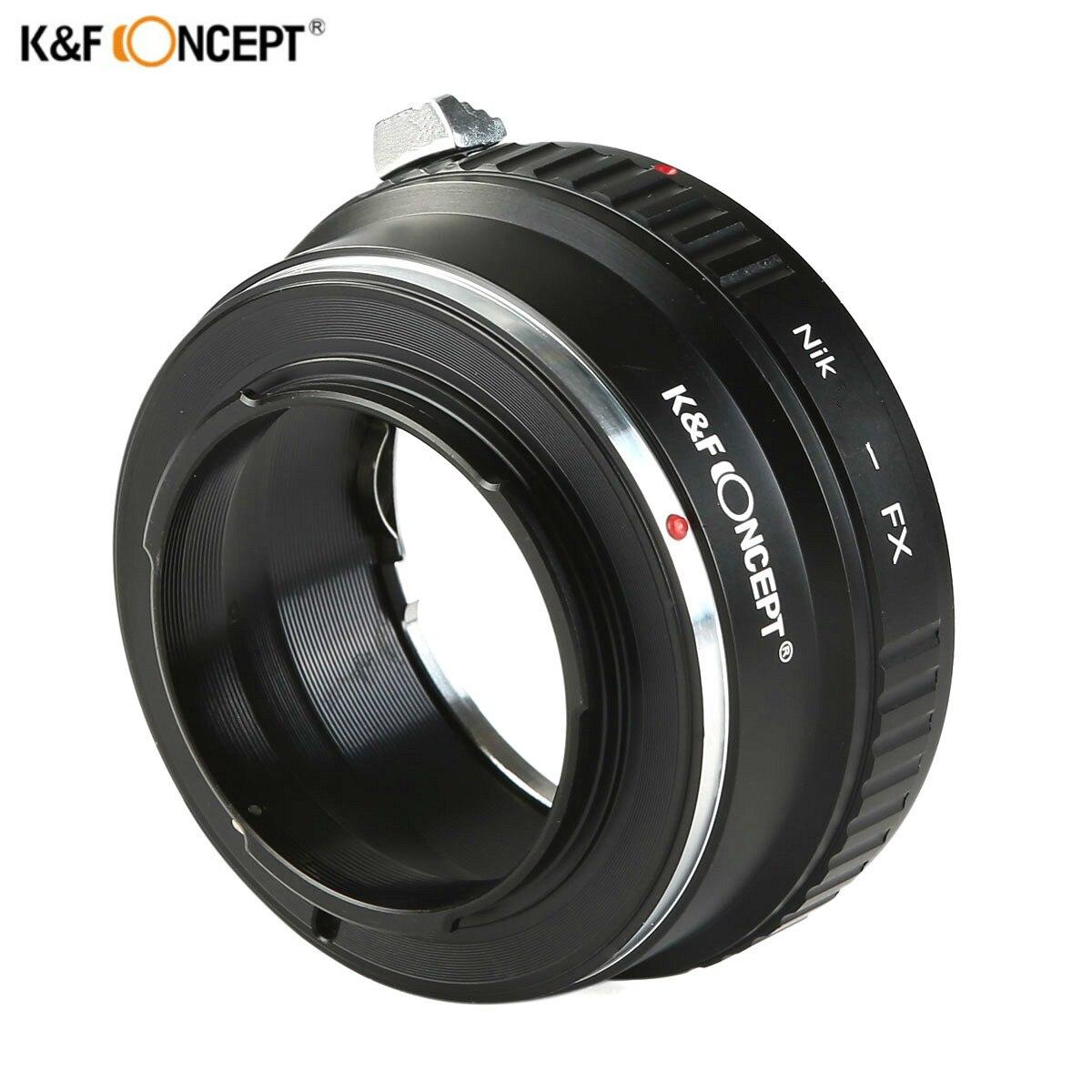 Adaptateur d'objectif K & F CONCEPT pour Nikon Auto AI AIs AF objectif à Fujifilm Fuji FX monture X-Pro1 appareil photo X-E1