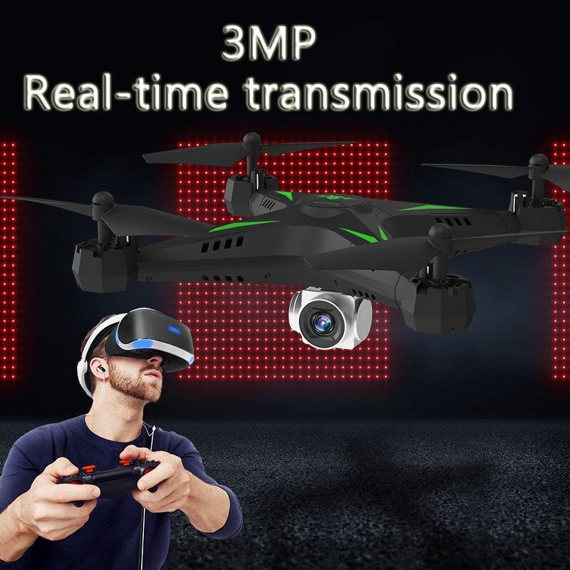 HD aerea elicottero trasmissione in tempo reale FPV trasmissione senza fili di visione drone 3mp telecomando drone giocattolo quadcopter giocattolo