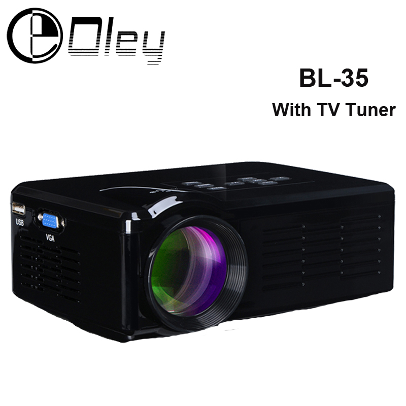 OLEY BL-35 1000Lumens home cinema HD TV Projector HDMI LCD LED Game PC Digital Mini Projectors support 1080P Proyector 3D Beamer