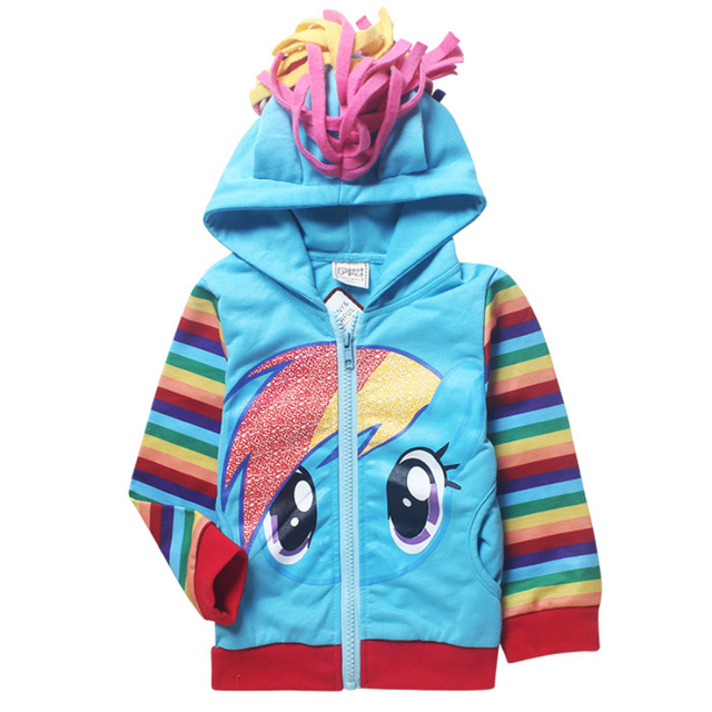 Dibujos animados Mi Pony Littl Poni Girls Sudaderas niños Niños Con Capucha Niñas Sudadera Con Capucha Moleton infantil ropa Para Niños