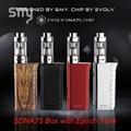 SMY SDNA75 Box mod vape Pen 75W VW VT Mode Vaper Electronic Cigarette 4ml Atomizer Temperature Control Hookah pen kit Huge Vapor