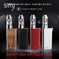 Smy caja pluma vape mod 75 w vw modo vt sdna75 vaper Cigarrillo electrónico 4 ml Atomizador Enorme Vapor Hookah pen kit de Control de Temperatura