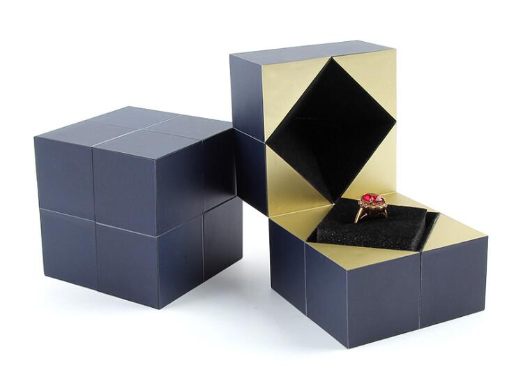 5pcs/lot Creative Magic Cube Propose Ring Box Romantic Marriage Wedding Ceremony Ring Box Rubik