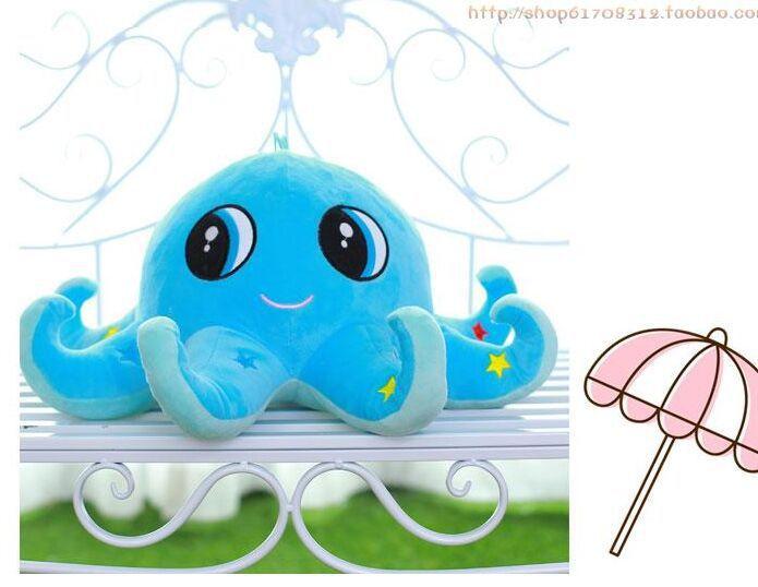 Grande peluche belle pieuvre jouet nouveau dessin animé créatif bleu pieuvre poupée cadeau environ 60 cm 0106