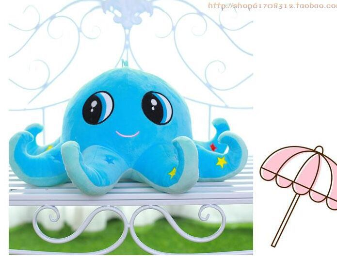 big plush lovely octopus toy new creative cartoon blue octopus doll gift about 60cm 0106