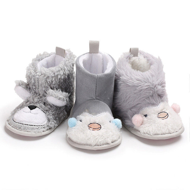 c1af27aae25b9b Baby Girls Boys Cute Animal Pattern Snow Boots Toddler Infant Winter Warm  Soft Sole Shoes Newborn Baby Boy Girl Snow Boots 0-18M