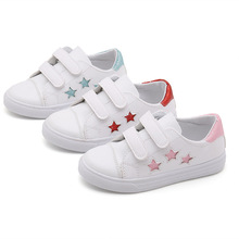 2019New Kid Shoes For Student Girls White Shoes Stars Breathable Children Casual Shoes 3T 4T 5T 6T 7T 8T 9T 10T 11T 12T 13T 14T