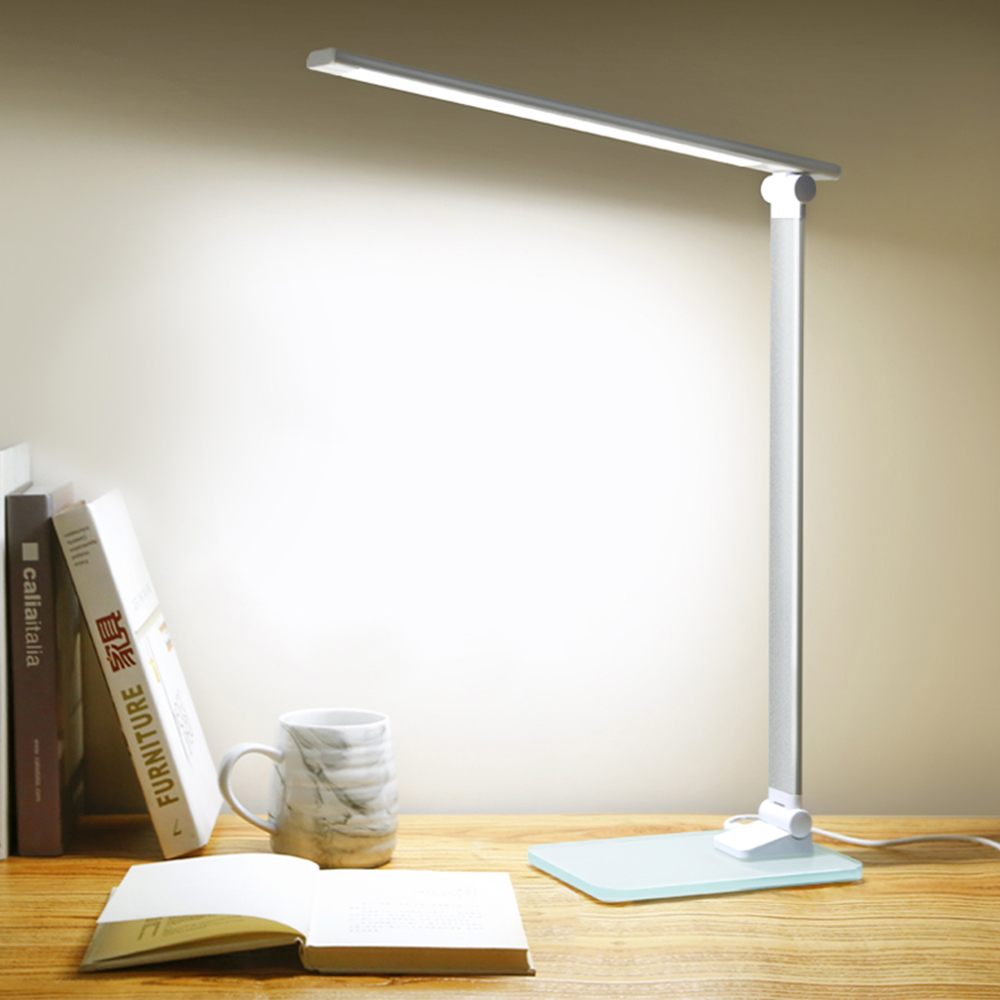 LED Stand Desk Lamp Modern Office Reading Table Light Touch Switch Folding USB Plug in Work Dimmer Led Table Lamps for Bedroom|Desk Lamps| |  - title=