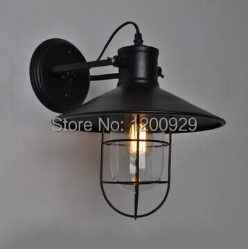 ФОТО Vintage Iron Wall Lamp LED for Bedroom/Dining room/Doorway Free Shipping WLL-26