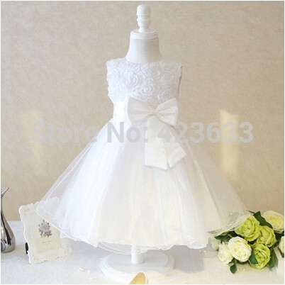 2015-New-Arrival-Ball-Gown-Scoop-Flower-Girl-Dress-With-Bow-For-Children-Girl-Organza-Wedding