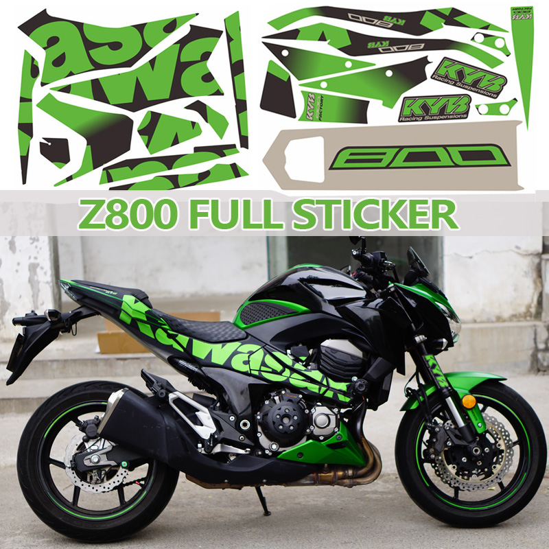 Z800 Full Sticker Motorcycle Car Body Decal Decorate Protect Yes Waterproof Prevent Scratches Decals Orange Red
