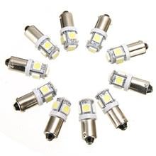 Mayitr 10 pièces T11 BA9S Dôme Lumière T4W 3886X H6W 363 5050 5LED Voiture Carte Lampe Ampoule pour L'éclairage Intérieur De Voiture