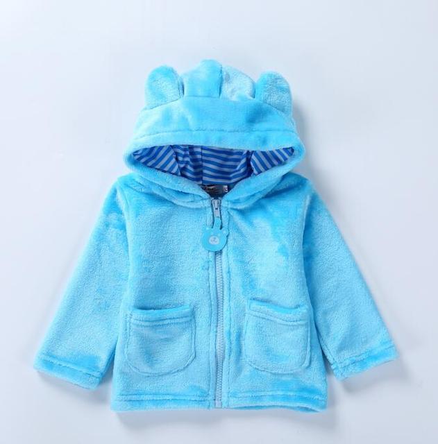 eb776ea07 Infantil de invierno ropa de bebé recién nacido niños niñas de manga larga  con capucha de
