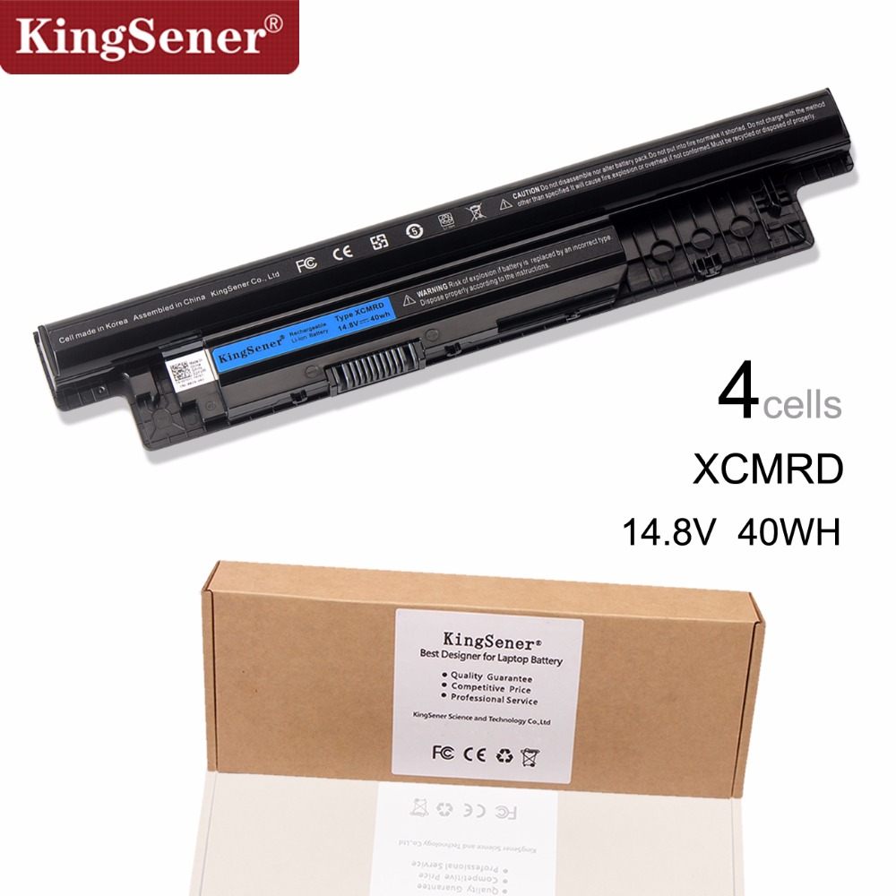 KingSener Korea Cell XCMRD MR90Y Laptop Battery for DELL Inspiron 3421 3721 5421 5521 5721 3521 5537 Vostro 2421 2521 battery new laptop hinge for dell inspiron 15 3521 5537 5537 2521 2528 3537 i15rv 1667blk 15 6 pn amosz000200 amosz000100