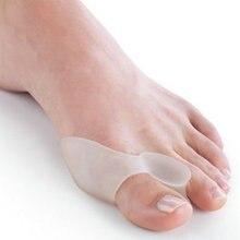 2 шт силиконовый гель буйон шина большой палец ноги сепаратор перекрывающий расширитель защита корректор Hallux стопа с вальгусной деформацией массажер C147