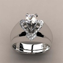 Best selling new creative heart-shaped ring fashion engagement
