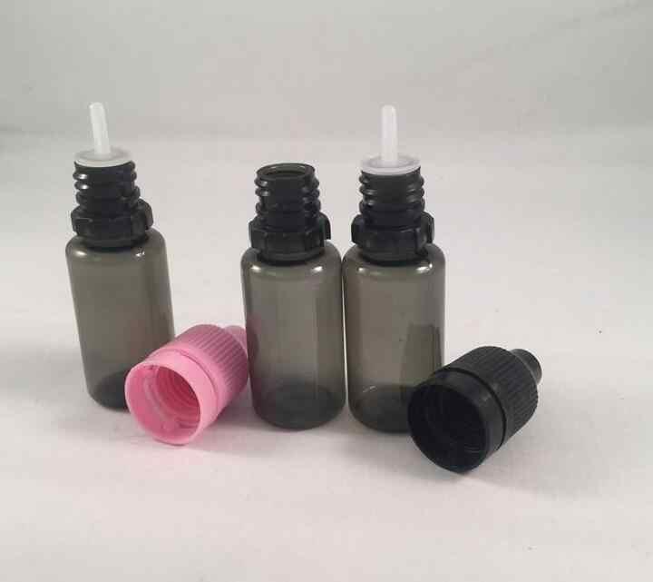 10 ml 30 ml PET Nhựa Đen E Chai Chất Lỏng Với Chai Childproof Cap Và Mẹo Dài Mỏng Ống Nhỏ Giọt Ejuice chai