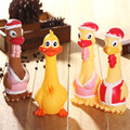 Funny Vent Long Neck Chicken Shrilling Chicken Sound Squeeze Screaming Toy Dressed chicken Kids Child Nice Gift