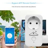 Timethinker 5pcs Smart Home WiFi Socket US EU UK Socket Plug for Apple Homekit Alexa Google Home APP Siri Voice Remote Control