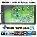 Новый 7 ''дюймовый HD Bluetooth Стерео Радио 2 DIN FM/USB/AUX/сенсорный Экран MP4 MP5 плеер 5 языков меню для камеры заднего вида