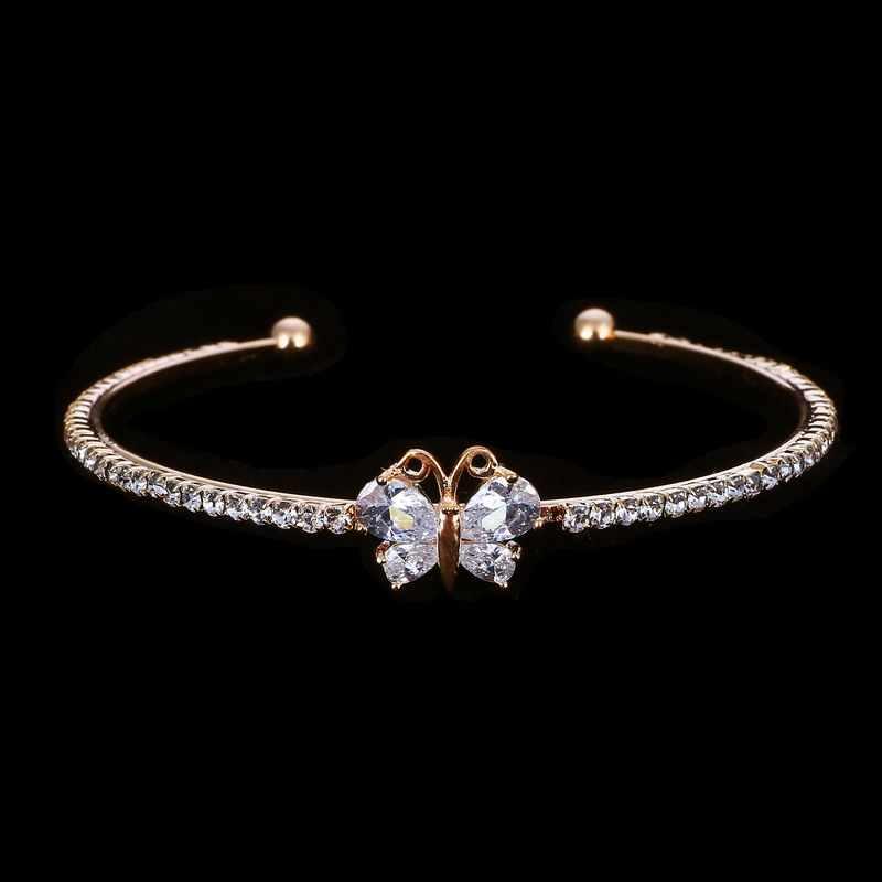 MINHIN, Новое поступление, романтическая бабочка, дизайн, Браслет-манжета, высокое качество, позолоченный, свадебный браслет, аксессуар для банкета девушки