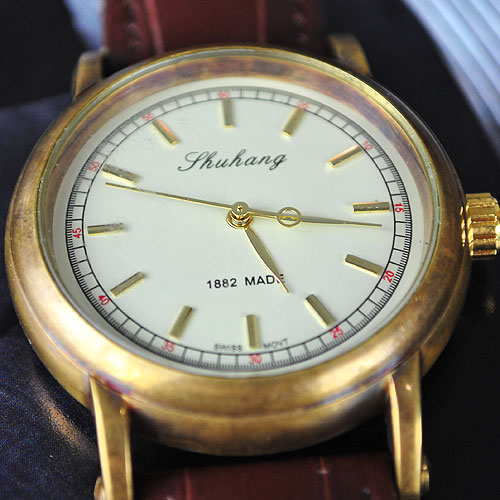 Luxury Brown Mechanical Mens Watch Special Brass Case!!! Free Shipping!! Cool!!Top Sale