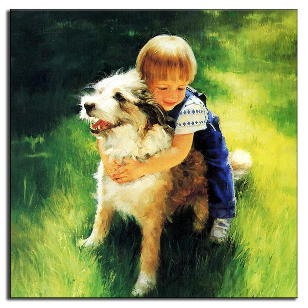 Classic Wall Art Top Home Decoration Canvas Art Cheap Cute Kid and ...