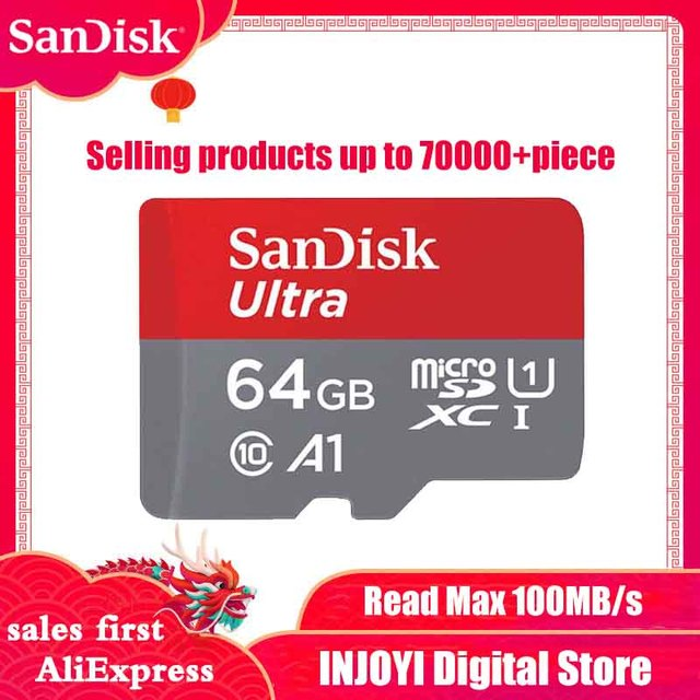 SanDisk Micro SD Card Memory Card 16GB 32GB 64GB 128GB MicroSD Max 80M s Uitra C10