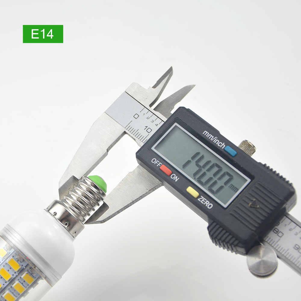 E27 светодиодный светильник 220 В SMD 5730 E14 Светодиодный лампочки 24/36/48/56/69 /72 светодиодный лампы кукурузы светодиодный Spotlight настольные лампы люстры