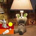 Sala de niños Cama Leyendo la Luz E14 110 V-220 V Interruptor de Botón Llevado Moderno Lámparas de Mesa Lámparas de Luz de Estudio Lámparas de escritorio de Estudio